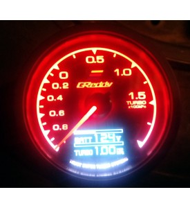 reloj presion de turbo tipo greddy multifuncion con pantalla de led