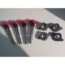 Bobinas tfsi+adaptadores plastico para 1.8t