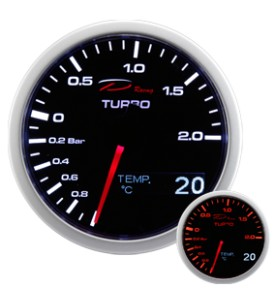 RELOJ DEPO RACING 2 EN 1  SERIES TURBO+TEMPERATURA DE ACEITE  60MM