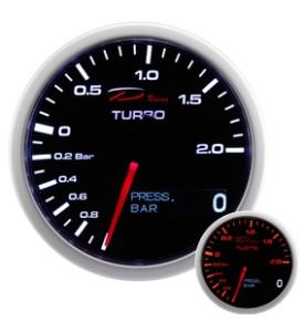 RELOJ DEPO RACING 2 EN 1 SERIES TURBO+PRESION  DE ACEITE 60MM